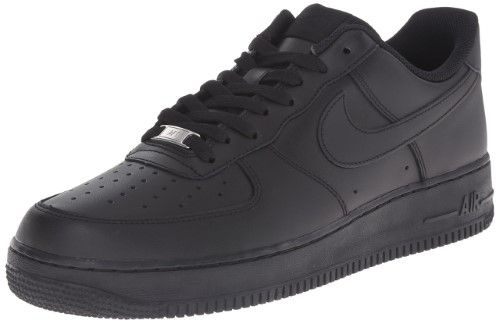 Nike 315122-001: Men's Air Force 1 '07 Black/Black ...
