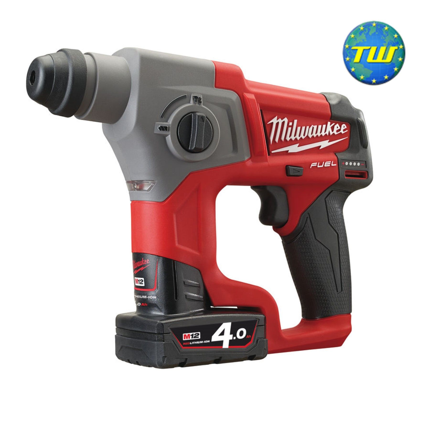 Milwaukee M12 Ch 402c M12 Fuel 12v Compact Sds 2 Mode Hammer Drill With 2x 4 0ah Red Li Ion Batteries 4933441988 Http Www Twwho Milwaukee Power Tools
