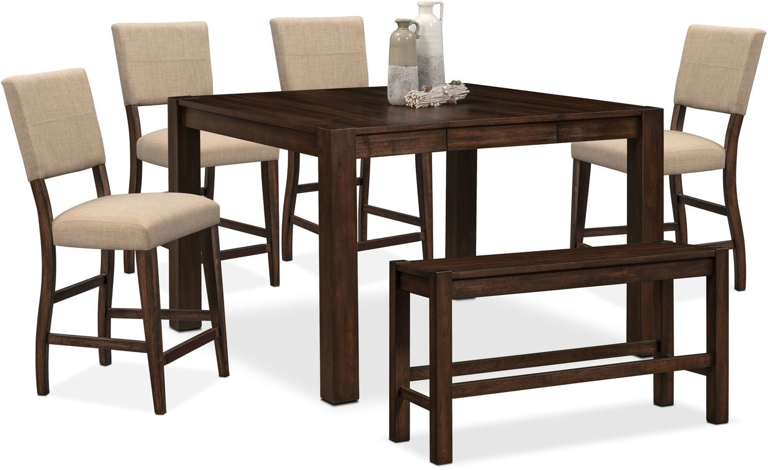 Astonishing Tribeca Counter Height Table 4 Upholstered Side Chairs And Bralicious Painted Fabric Chair Ideas Braliciousco