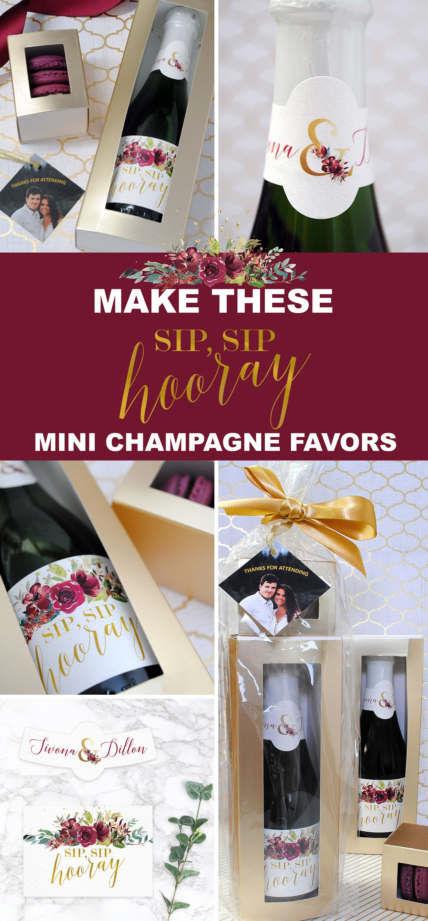 Make thesesip sip hooray bridal shower favors with custom stickers in no time at all personalize the stickers online read how in the link