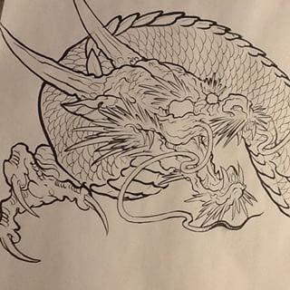 How to draw a japanese dragon google japan pinterest japanese dragon dragons - Dessin dragon japonais ...