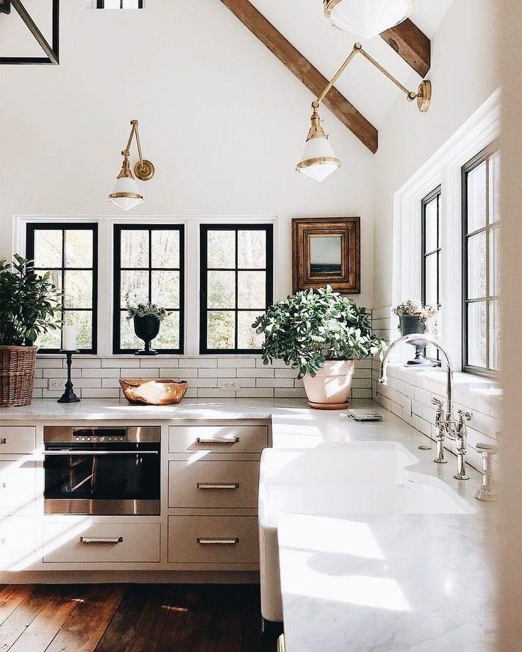 28 Antique White Kitchen Cabinets Ideas In 2019: Modern Minimal Kitchen Design With White Marble