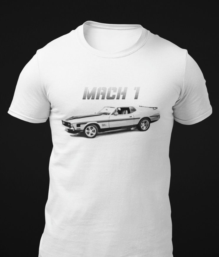 Mustang Mach 1 Classic Car T Shirt Fromthe8tees Tshirt In 2020 Mustang T Shirts Classic Cars Ford Mustang Classic