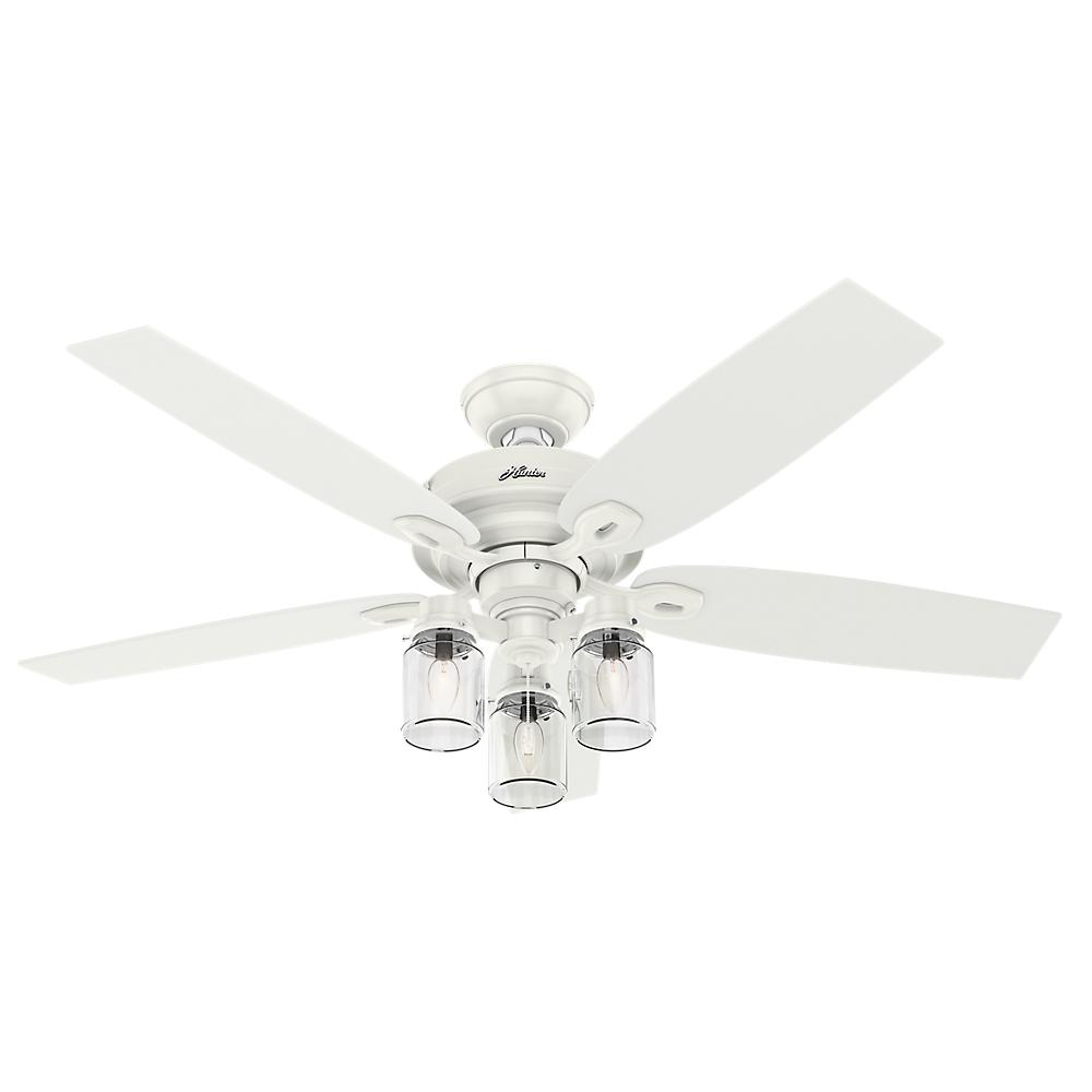 Hunter Crown Canyon 52 In Indoor Fresh White Ceiling Fan Future Fans 53361 The Home Depot
