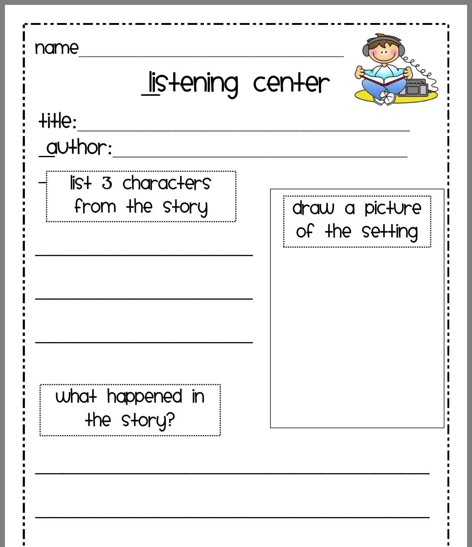 Pin By Mindy On Listening Center Ideas