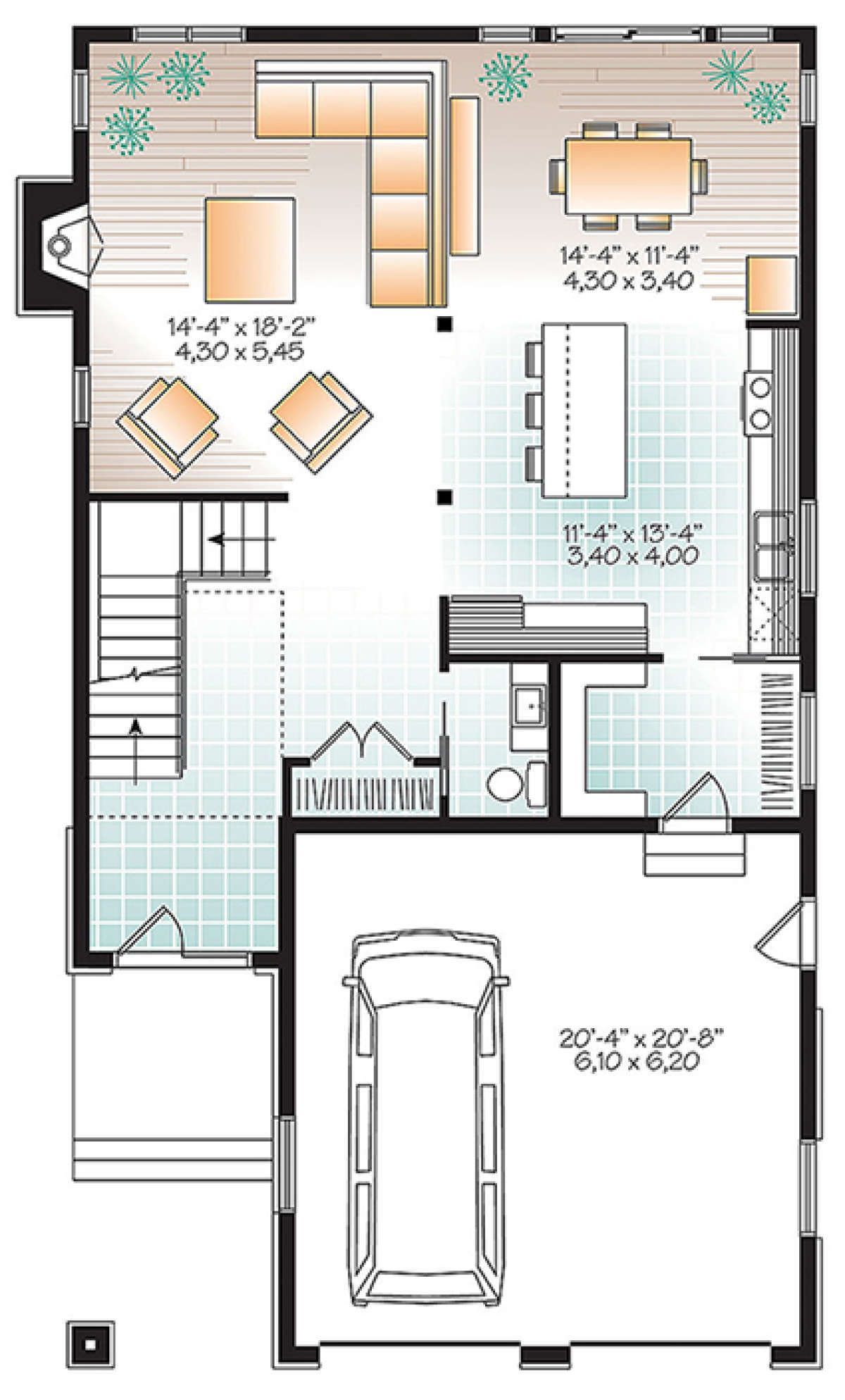 House Plan 034 01078 Contemporary Plan 2 288 Square Feet 3 Bedrooms 2 5 Bathrooms Contemporary House Plans House Plans Four Bedroom House Plans