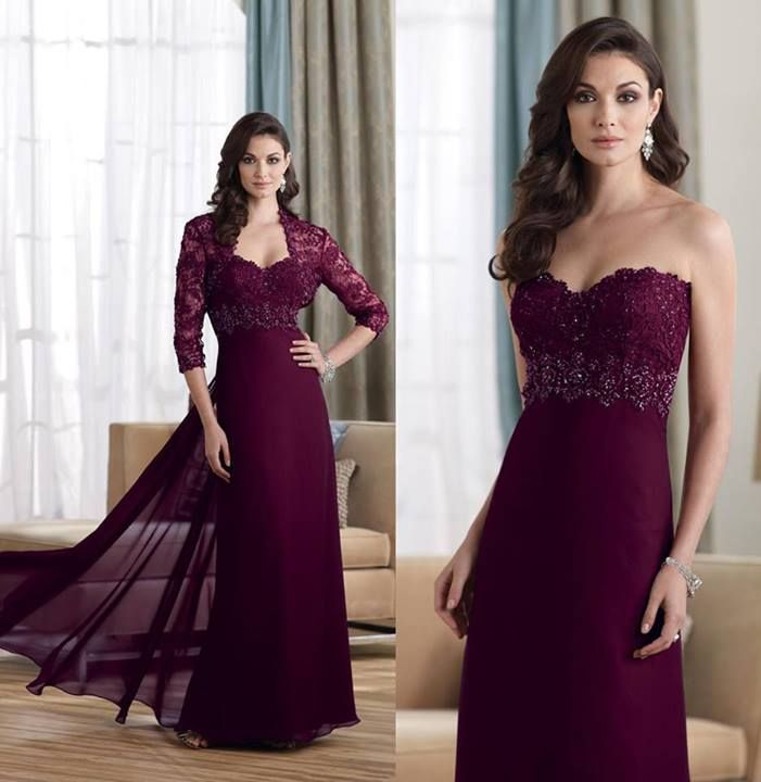 burgundy mother of the bride dress | Wedding | Pinterest ...
