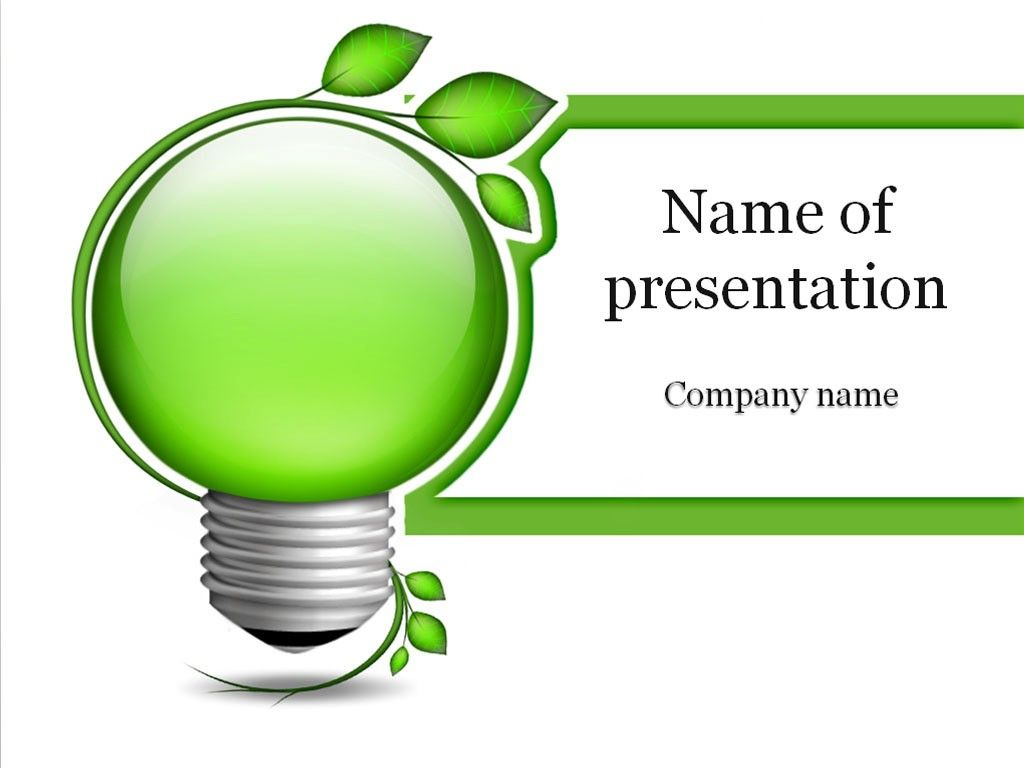 Green Energy PowerPoint Template | Templates | Powerpoint