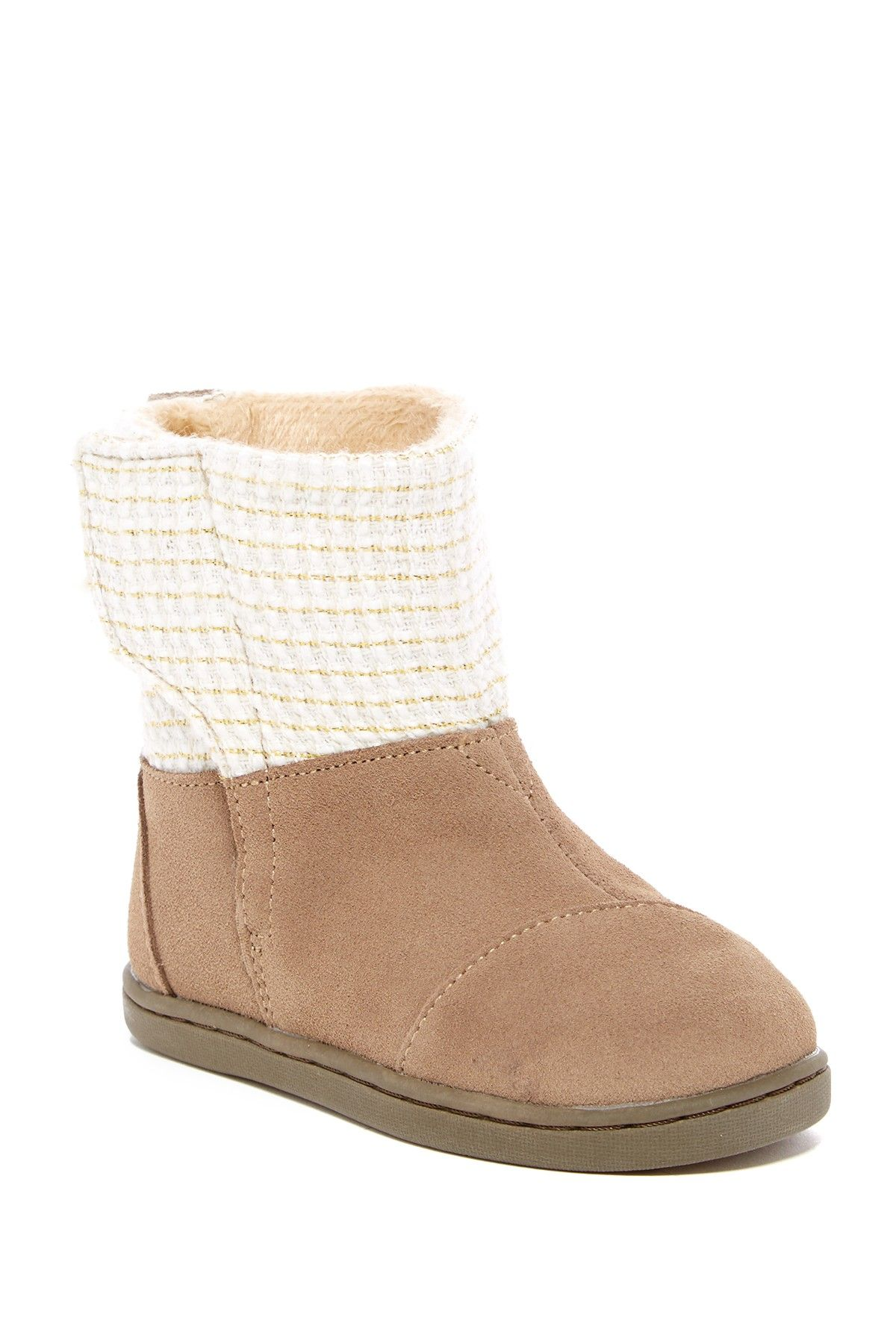 ac9a23b5657 Suede Metallic Faux Fur Lined Nepal Boot (Baby, Toddler, & Little ...
