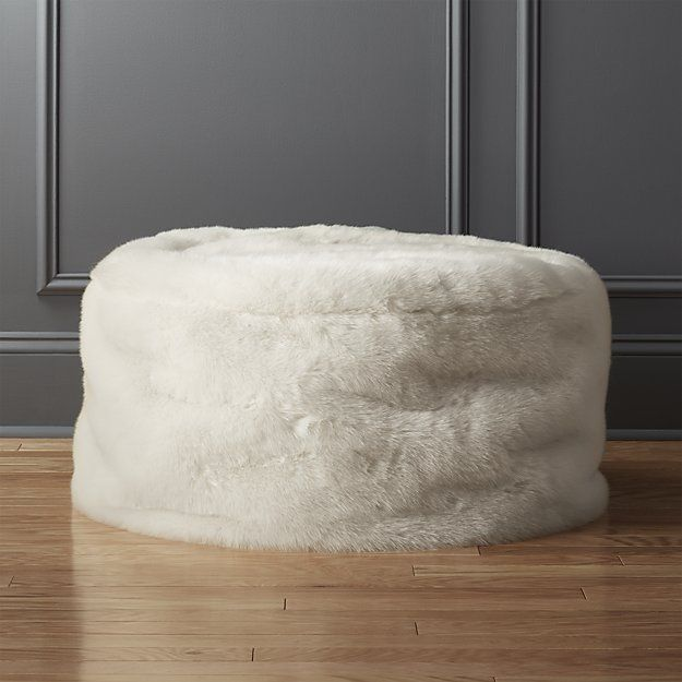 Shop Faux Fur Pouf Relaxed And Oversized Our Lounge Worthy Round