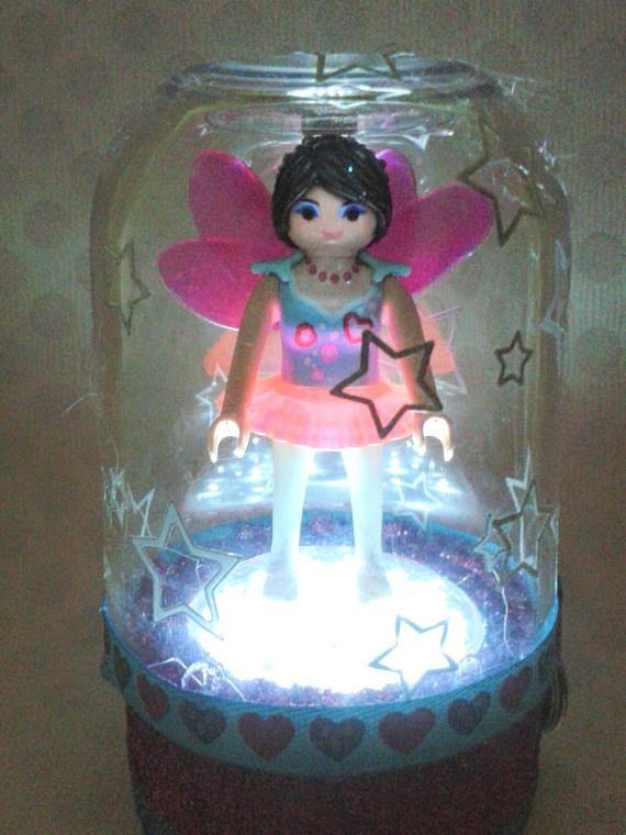 Lampe Led Playmobil globe à paillettes féerique à poser sur ...