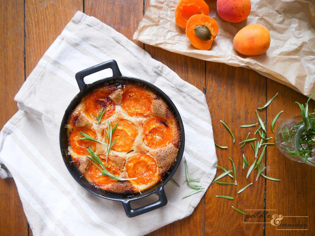 Gratin d'abricot à l'amande et au romarin
