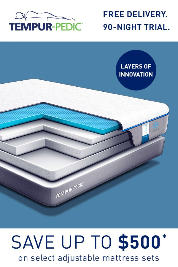 Layers Of Innovation Built To Channel Heat Away From Your Body Tempur Breeze Is Made With Proprietary Cooling Technology Th Mattress Tempurpedic Mattress Sets