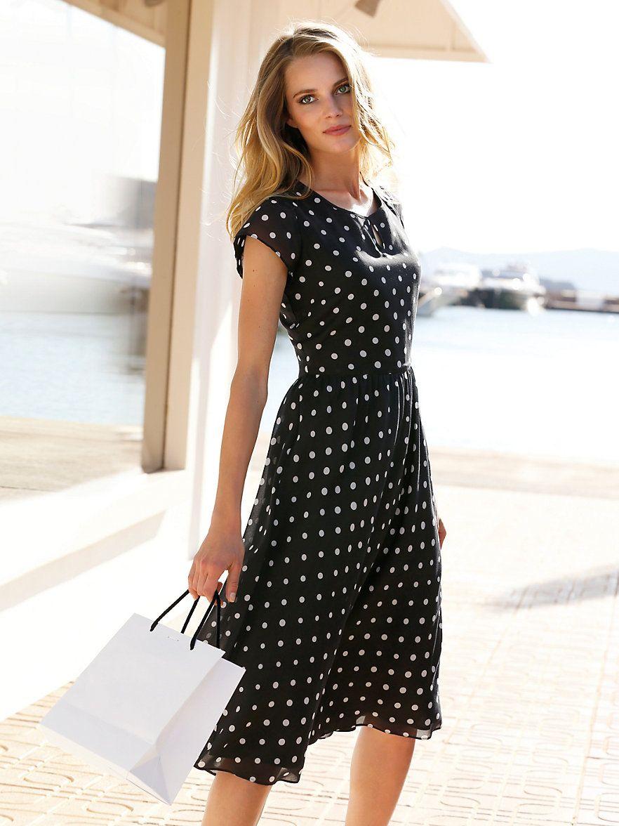 ebf4cb026383c3 Kleid von Peter Hahn in Schwarz/Weiß - Jetzt im PETER HAHN Shop bestellen.  Ihrem Experten für exklusive Damen- und Herrenbekleidung.