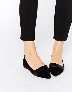 Buy Women Shoes / Faith Ace Black Pointed Flat Shoes