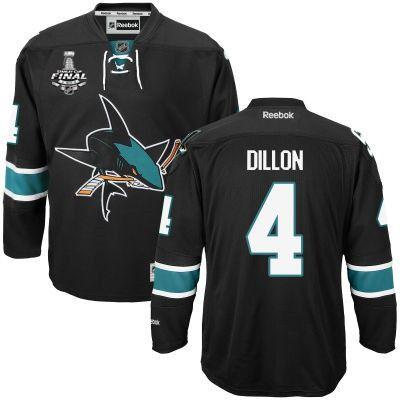 Men's San Jose Sharks #4 Brenden Dillon Black Third 2016 Stanley Cup NHL  Finals Patch
