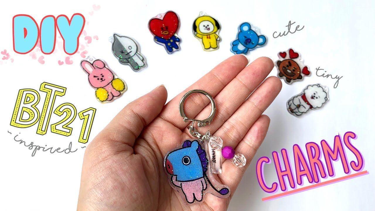 Diy bt21 plastic charms graet instructions for making