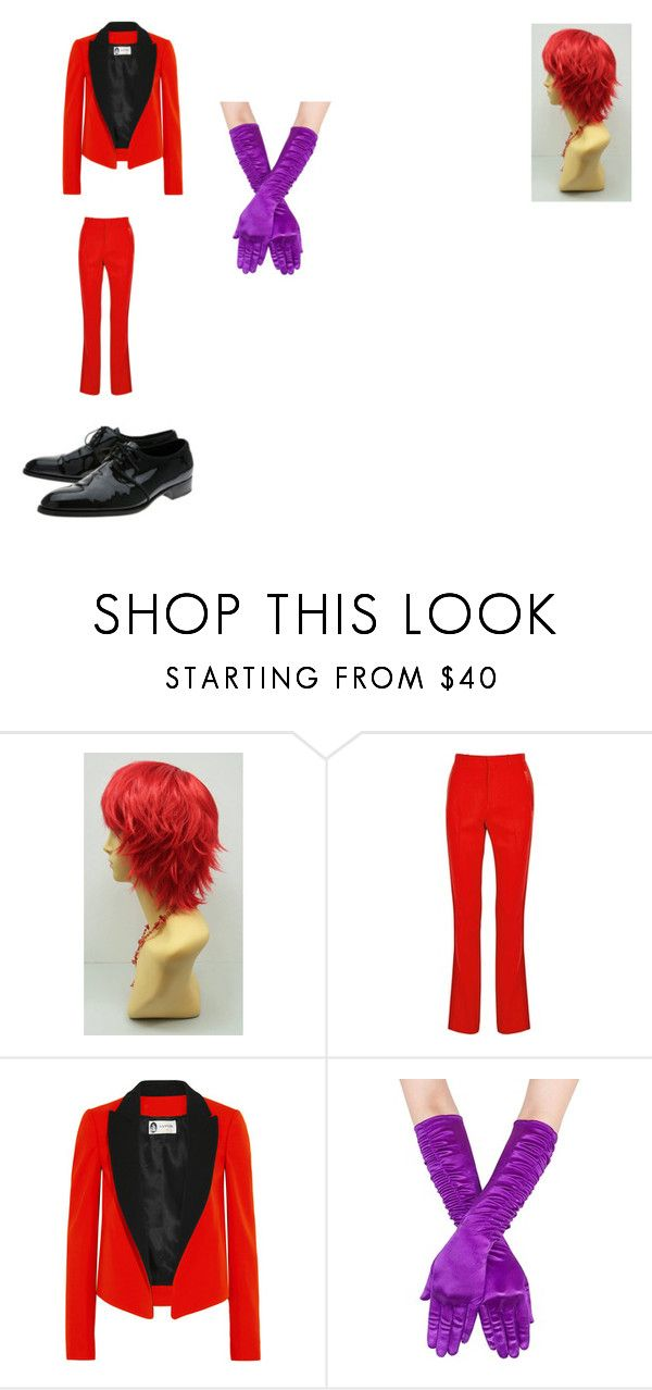 """Lucilla's Male Jessica Rabbit"" by silveria-phantomhive on Polyvore featuring Givenchy and Lanvin"