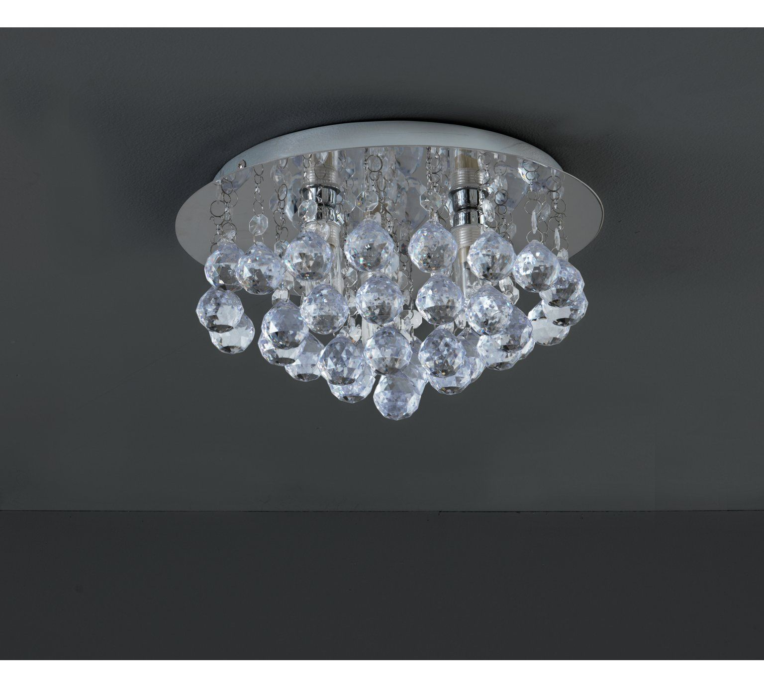 Collection Reina Droplets Flush Ceiling Light Chrome At Argos Co Uk