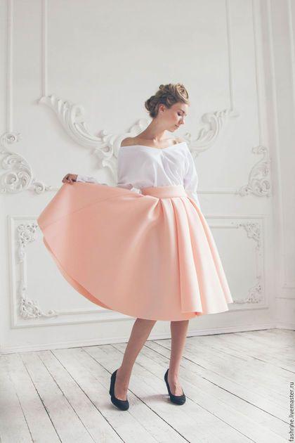 11d0d30f10a Юбки ручной работы. Ярмарка Мастеров - ручная работа. Купить Розовая юбка  миди из неопрена. Handmade. Бледно-розовый
