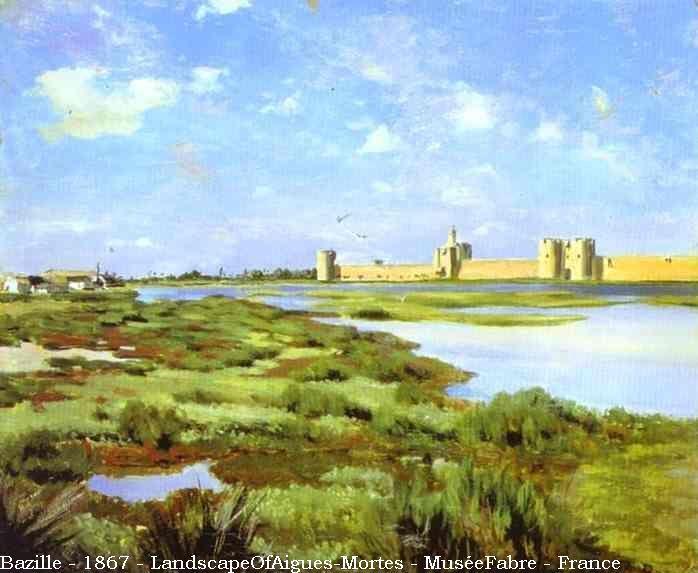 Bazille - 1867 - LandscapeOfAigues-Mortes - MuséeFabre - France