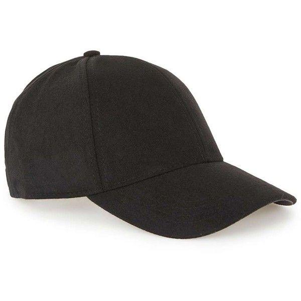 c1b2d5dee TOPMAN Black Fleece Curved Peak Cap (260.410 IDR) ❤ liked on ...