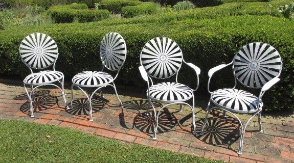 Vintage Patio Furniture And Accessories Garden Chairs Metal Metal Garden Furniture Garden Chairs