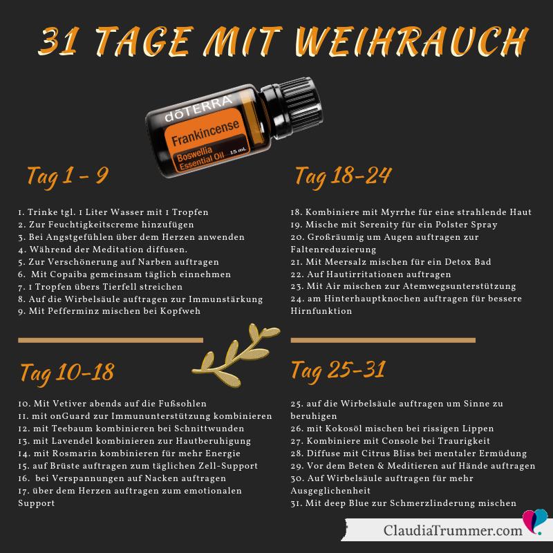 40 Anwendungen für das ätherische Weihrauch Öl