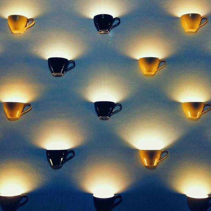 Cups wall light | Coffee shop design, Cafe decor, Restaurant