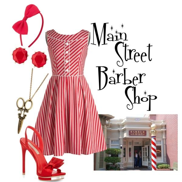 """""""Main Street Barber Shop"""" by alsni on Polyvore"""