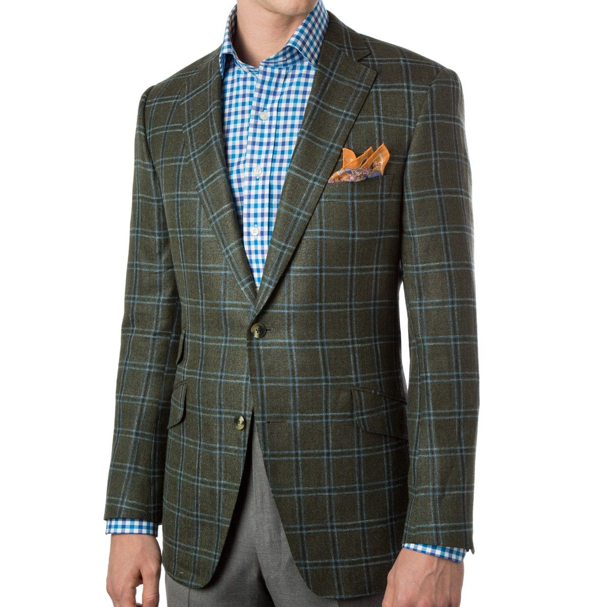 Green Window Pane silk and Wool Sport Coat | Bookster | Pinterest ...