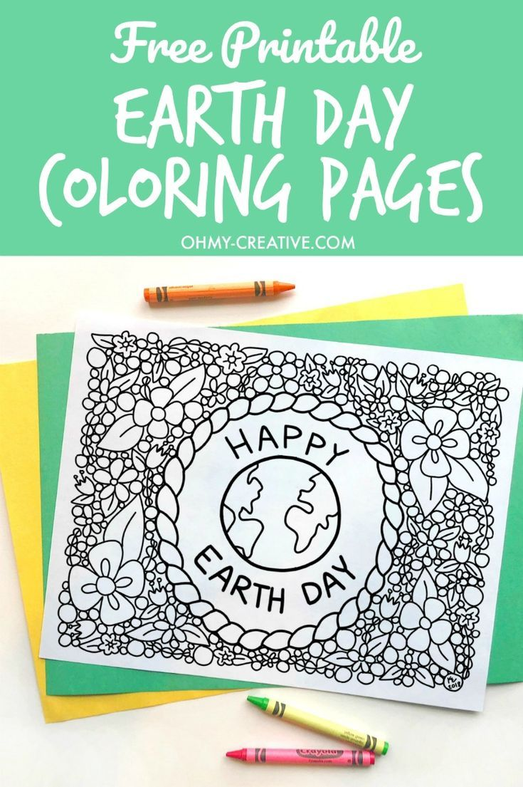 Earth Day Coloring Pages | Earth, Creative and Craft