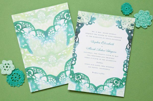 Lace Illusion + Ombre #WeddingInvitations I @Wedding Paper Divas I http://www.weddingwire.com/wedding-photos/invitations/wedding-paper-divas/i/e37a032e5dd0da53-dbf5680d51ffe623/df92e0debe64883b