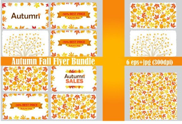 Autumn Fall Flyer Bundle Autumn fall and Flyer template - fall flyer
