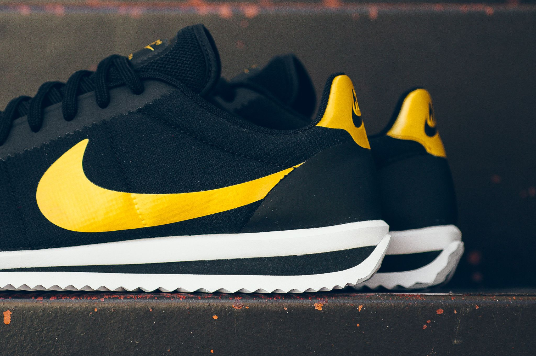 All Black & A Little Bit Of Gold On This Nike Cortez Ultra • KicksOnFire.com