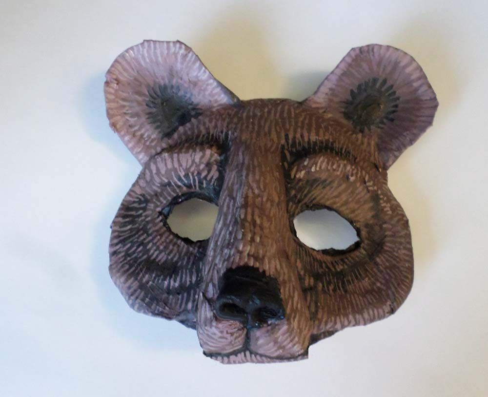 Uncategorized How To Make A Bear Mask masquerade mask bear animal paper mache by epicfantasy black grizzly brown cosplay mask