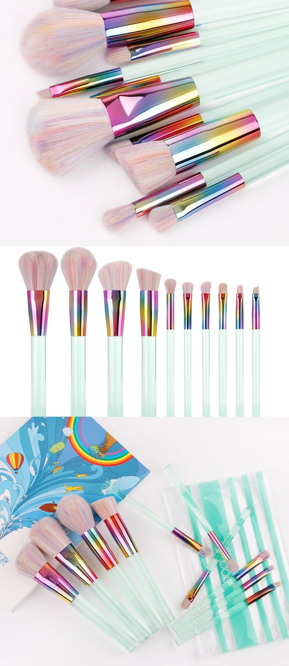 10 Piece Professional Makeup Kabuki Brush Set