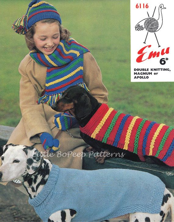 S,M /& Large COPY dog knitting pattern DACHSHUND COAT