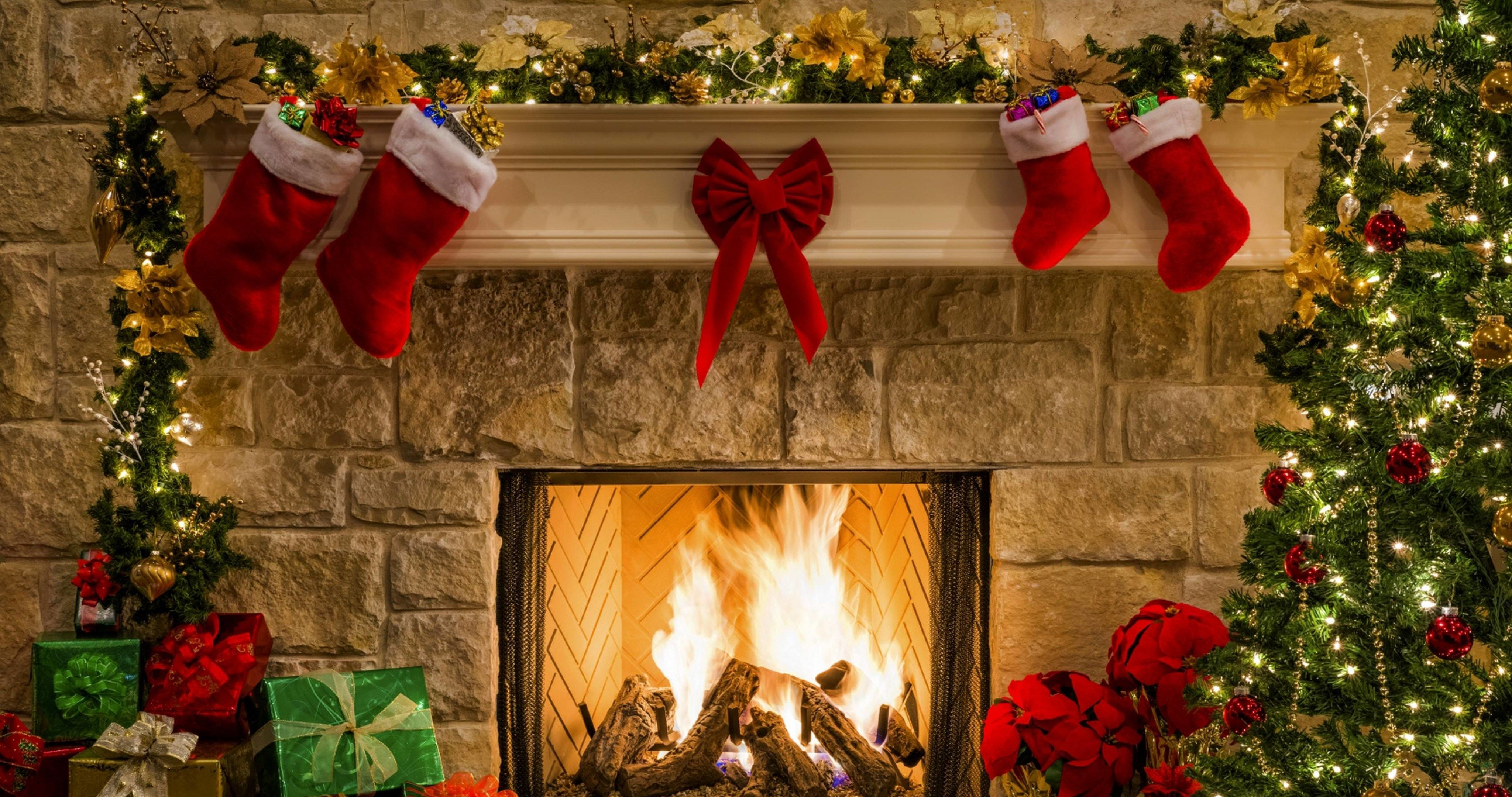 Happy New Year Fireplace Wallpaper 4k Ultra Hd Wallpaper