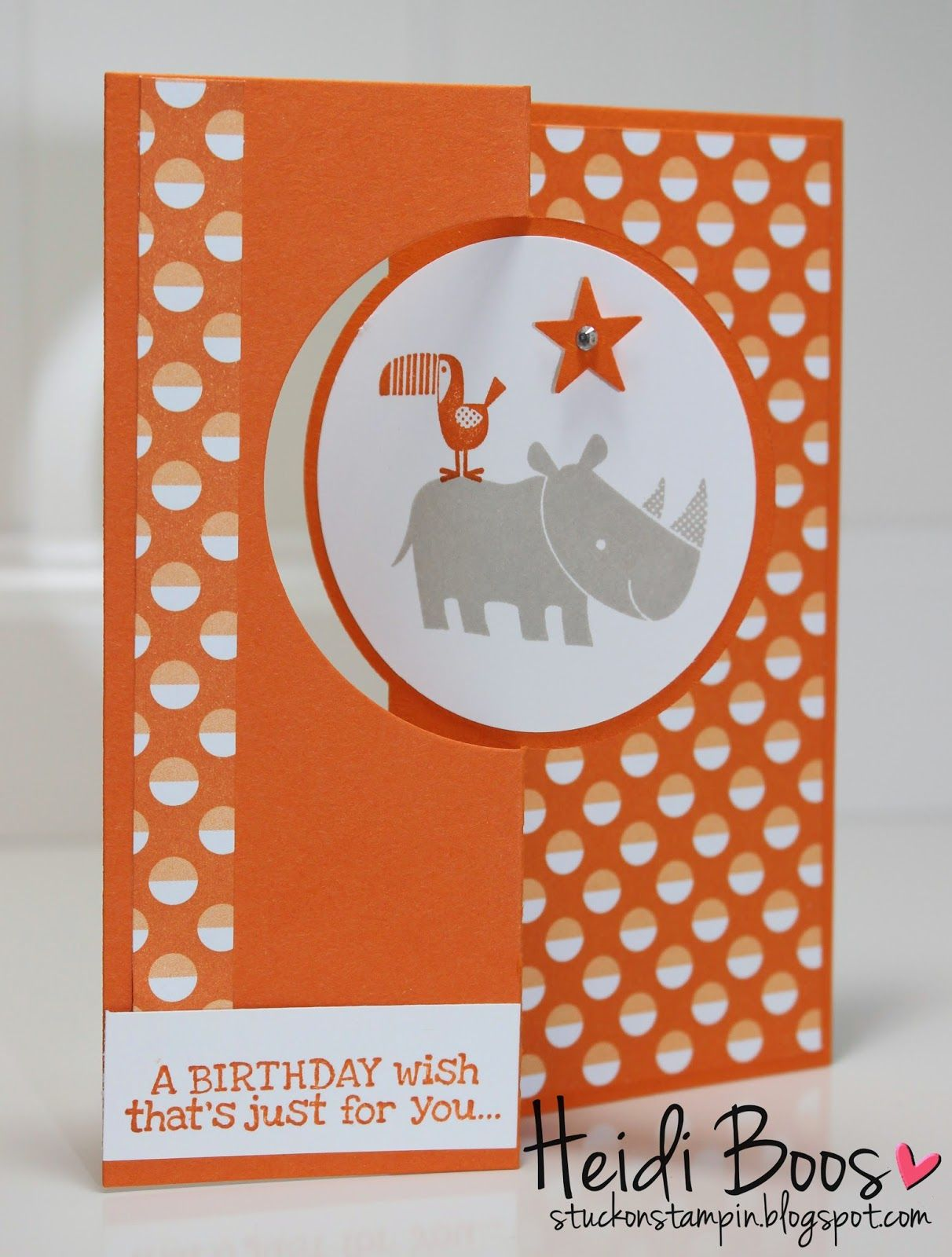 Ssink two step stamping childus birthday card birthdays