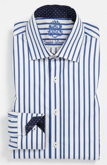 English Laundry Trim Fit Dress Shirt Camisas Camisas Hombre Hombres