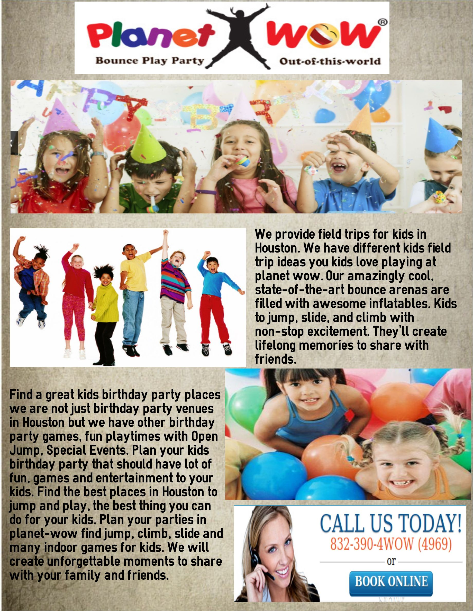 Find a great kids birthday party places we are not just birthday
