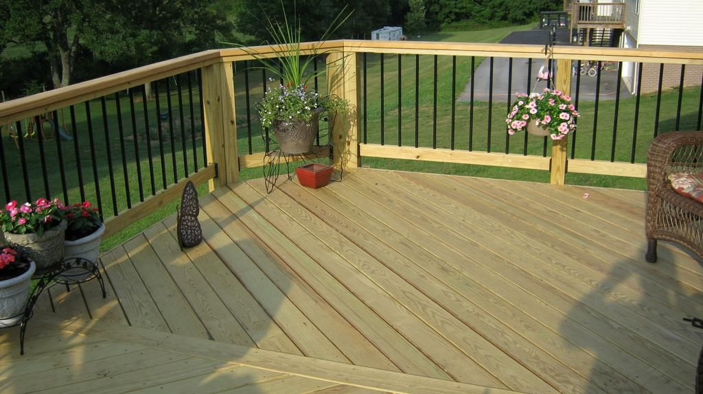 Railing For Decks Aluminum Welded This Deck In Unicoi Is