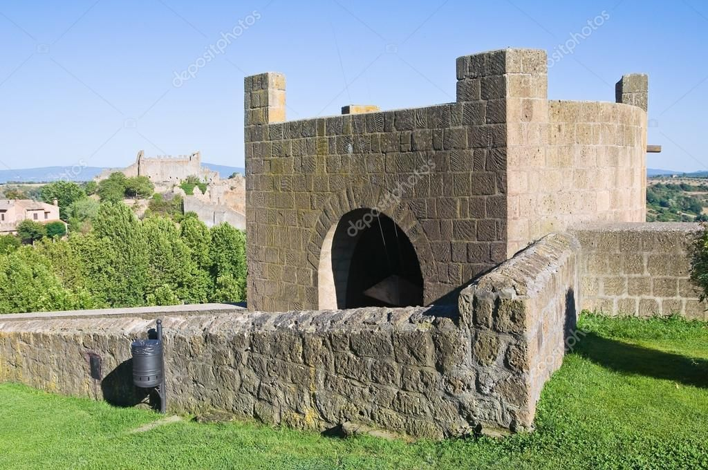 Fortified walls. Tuscania. Lazio. Italy. - Stock Photo , #Affiliate, #Tuscania, #walls, #Fortified, #Lazio #AD