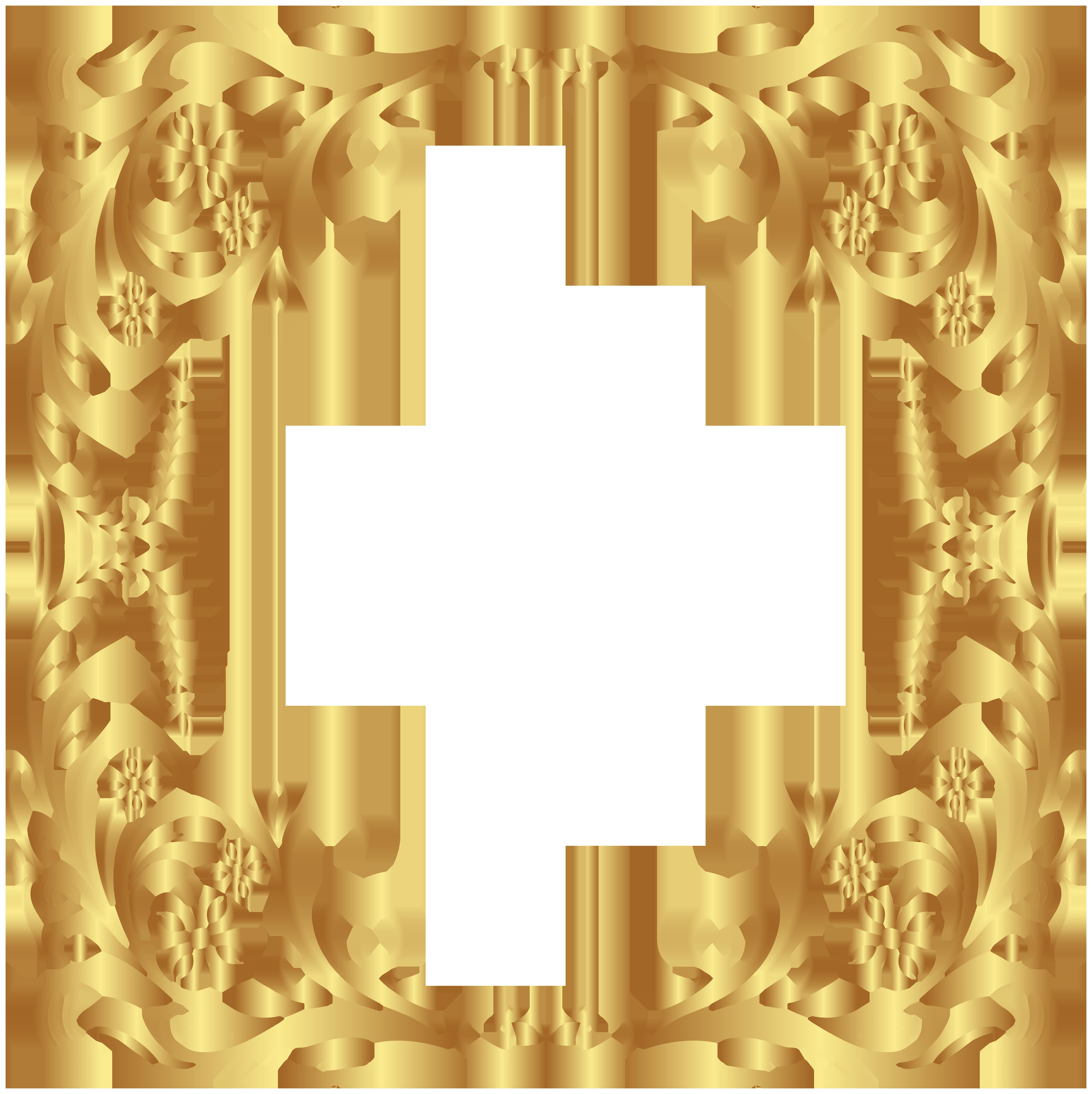 Deco Gold Border Frame PNG Clip Art   Clip art, Free clip ...