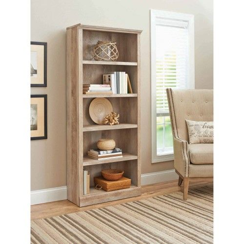 Better Homes and Gardens Crossmill Collection 5-Shelf Bookcase, Weathered | Jet.com