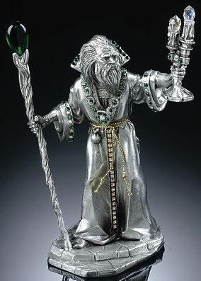 Pewter wizard pewter figurines pinterest pewter - Pewter dragon statues ...