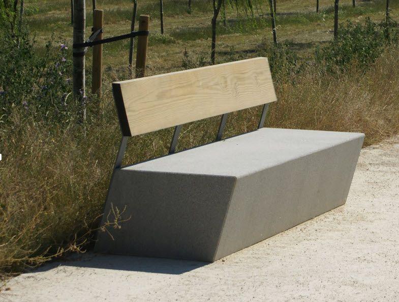 Design public bench in concrete exteriores pinterest for Mobiliario urbano contemporaneo