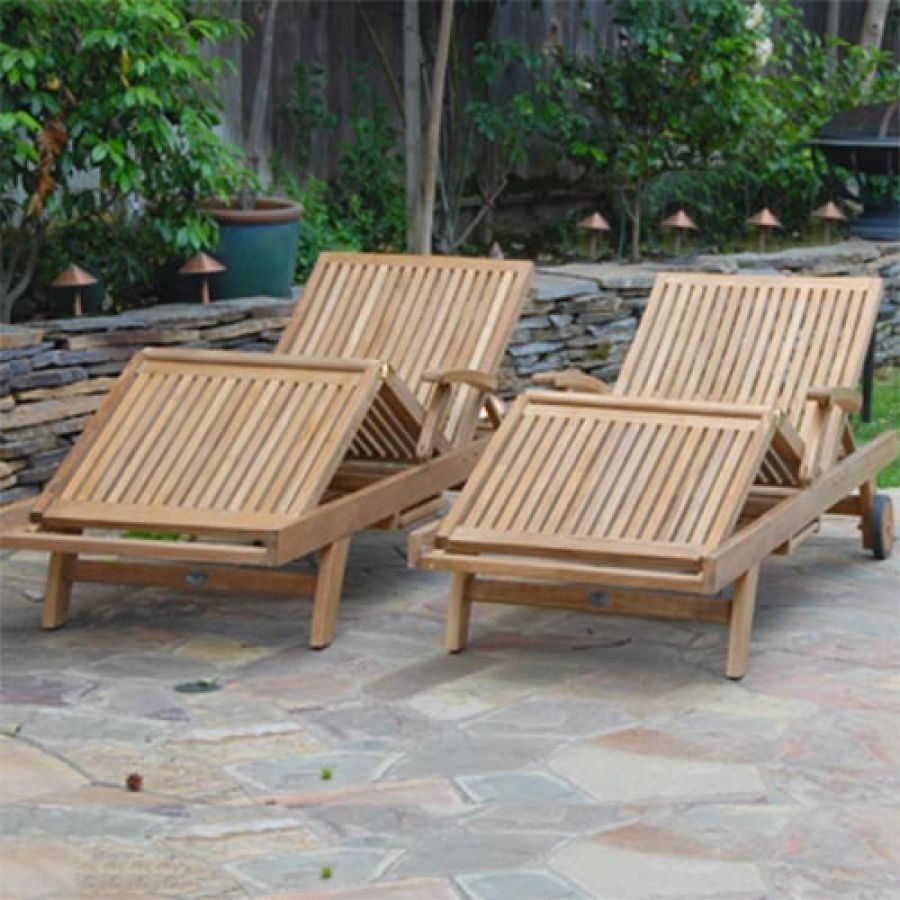 Liberty Teak Outdoor Sun Chaise Lounger Can Bend From The Knees, And The  Back Reclines In Five Different Positions. Marine Grade Solid Brass Used.
