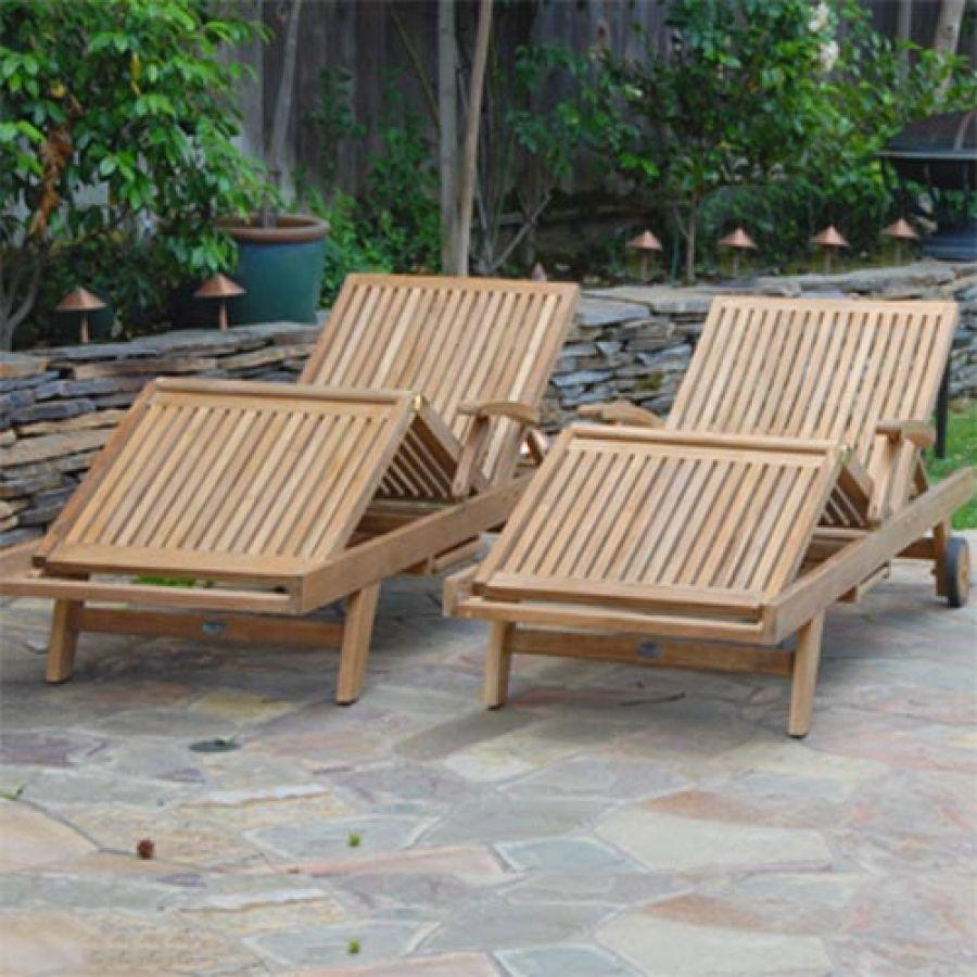 Teak Patio Furniture Chaise Lounge
